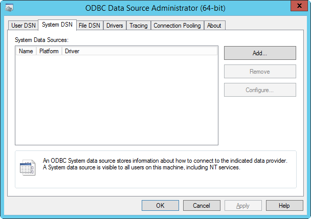 Create And Configure An ODBC Driver For A MS Access Data Source